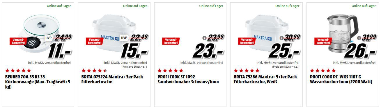 ?️ Media Markt Küchenkleingeräte Aktion: z.B. Kenwood HDP408 WH Triblade Stabmixer für 70€ (statt 86€)