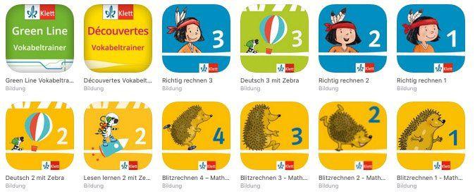 Kostenlose Klett Verlag Lern Apps [iOS] für Mathe und Deutsch