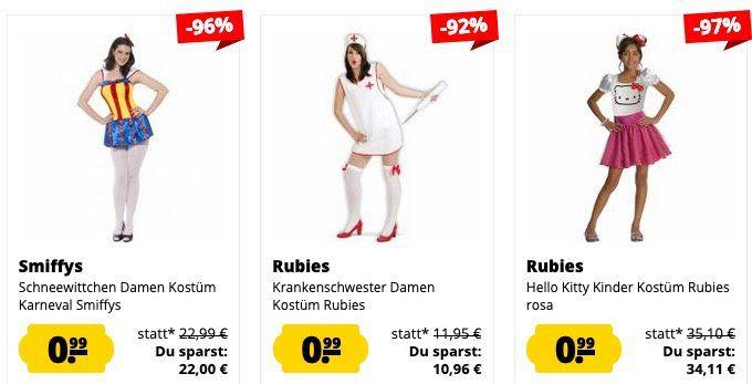 Rubies & Smiffys Kostüme für je 0,99€ zzgl. VSK