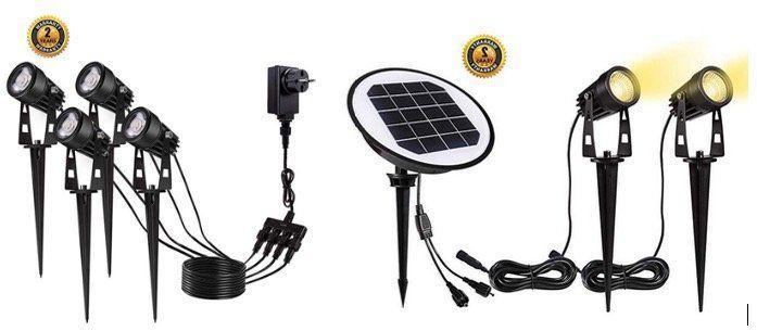 LED Gartenlampen mit und ohne Solar IP65 schon ab 21,99€ bei Prime inkl. Versand (statt 39,99€)