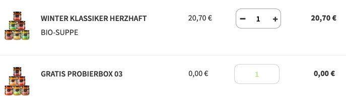 Little Lunch: Mit Gutschein ganze Gratis 6er Box (MBW 10€) oder 20% Rabatt auf Suppenboxen