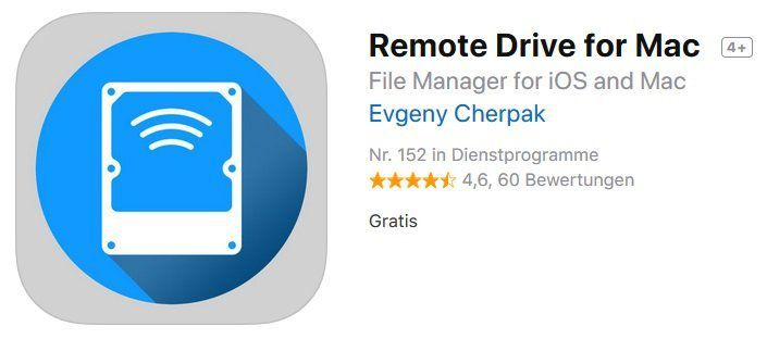 iOS App: Remote Drive for Mac kostenlos (statt 5,49€)