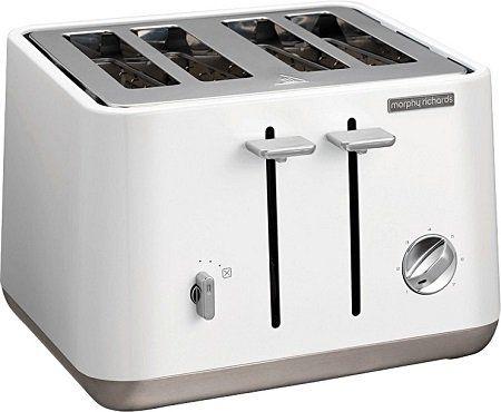 MORPHY RICHARDS 240003 Aspect Toaster in Weiß (1800 Watt, Schlitze: 4) für 39€ (statt 68€)