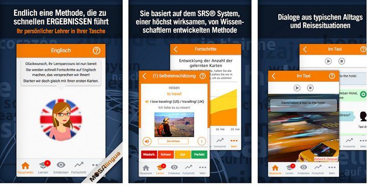 Android: MosaLingua Premium   Englisch lernen kostenlos (statt 5,49€)