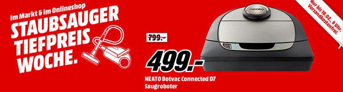 MM Top Staubsauger Tiefpreiswoche ab Heute z.B.:  NEATO Botvac Connected D7 Staubsaugroboter für 499€ (statt 549€)