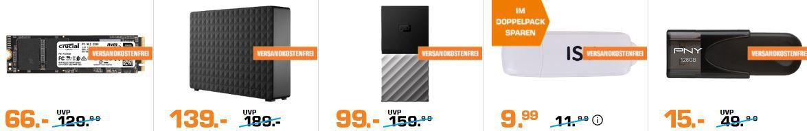 Saturn Late Night Speicher Shopping: z.B. SANDISK ULTRA USB3 Stick 256 GB für 37€ (statt 50€)