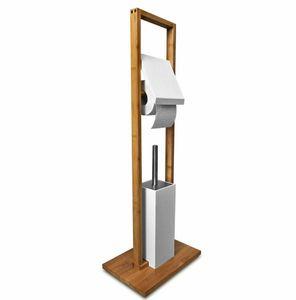 Sanwood Bambus Edelstahl WC Toilettenbürsten Garnitur für 14,99€ (statt 25€)