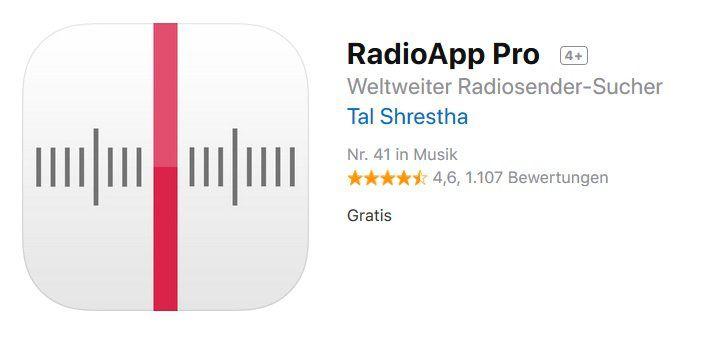 iOS App: RadioApp Pro gratis (statt 8€)