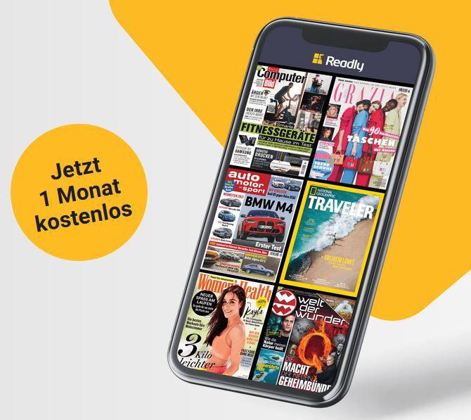 Readly eMagazin Flatrate 1 Monat gratis testen (statt 10€)