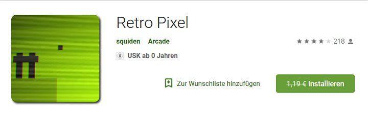 Android App: RETRO PIXEL kostenlos (statt 1,19€)
