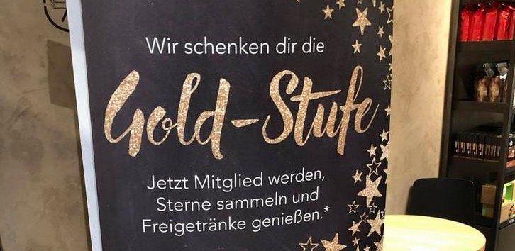 Starbucks Card mit 5€ aufladen und direkt Gold Status bekommen
