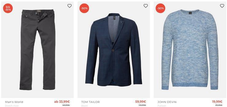 Übergrößen Sale bei About You bis 68% Rabatt + 30% Extra Rabatt   z.B. Bruno Banani Polo bis 4XL ab 17,49€