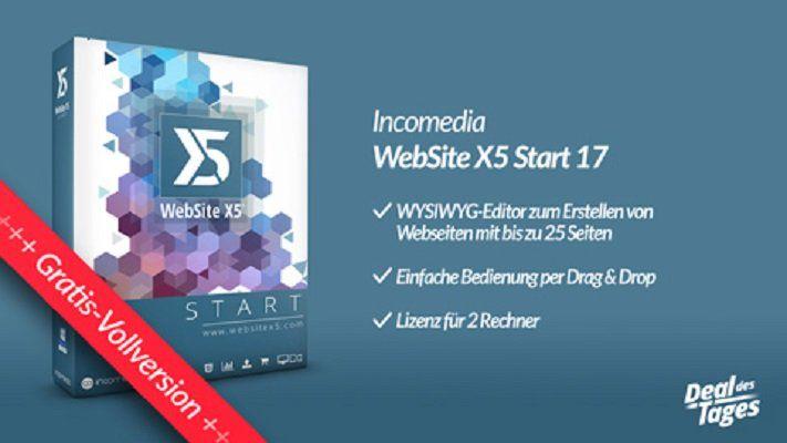 Gratis: Version 17 des WYSIWYG Editors WebSite X5 Start (statt 20€)