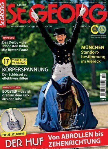 12 Ausgaben St. Georg Pferdezeitschrift für 69,60€ + 60€ Gutschein oder 55€ Verrechnungsscheck