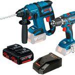 Bosch GSR 18-2-Li Plus Akkuschrauber + Akku-Bohrhammer GBH 18 V-EC + Zubehör für 419,57€