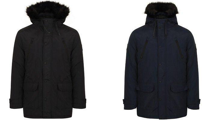 Tokyo Laundry Lenart Fur Trim Hooded Parka für Herren für 19,10€ (statt 38€)