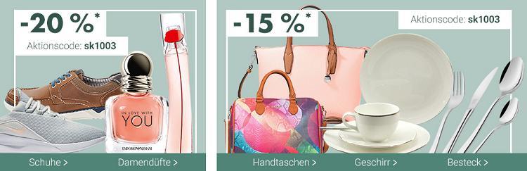 Karstadt Sonntags Kracher u.a. mit 20% Rabatt auf Damenuhren,  düfte & Schuhe