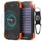 Powerbank (10000mAh) mit Qi-Ladefläche & Solar-Panel für 19,79€ (statt 30€)