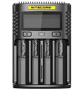 Nitecore UM4   intelligentes Ladegerät mit 4 Schächten für 19,80€