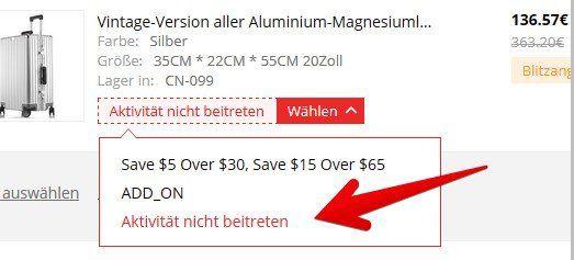 Stabiler Trolley aus Aluminium Magnesium Legierung für 103,25€
