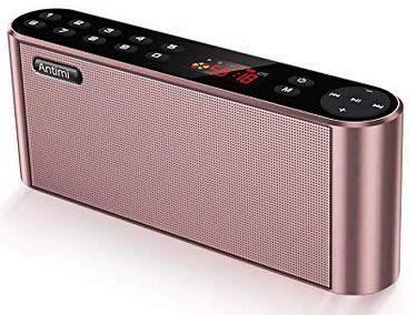 Antimi Bluetooth Lautsprecher mit Radiofunktion für 12,95€ (statt 37€)