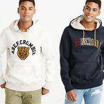 """Abercrombie & Fitch Sweatshirt """"HERITAGE VARSITY LOGO POPOVER"""" für 62,91€ (statt ~80€)"""