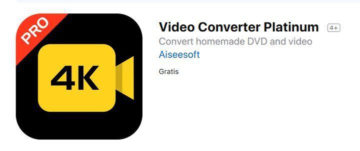 Gratis: Software für Mac Video Converter Platinum (statt 28€)