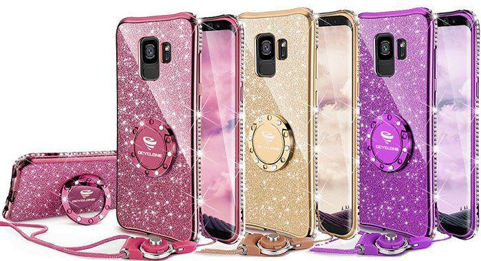 Glitzernde Handyhülle für das GalaxyS9 in 3 Farben für je 5,89€   Primer