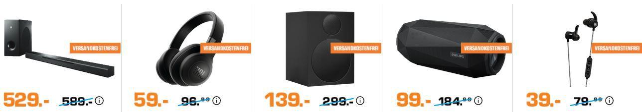 Saturn Late Night Audio, Kopfhörer und Smartphone Nacht: z.B. JBL E500BT Bluetooth Over ear Kopfhörer für 59€ (statt 99€)