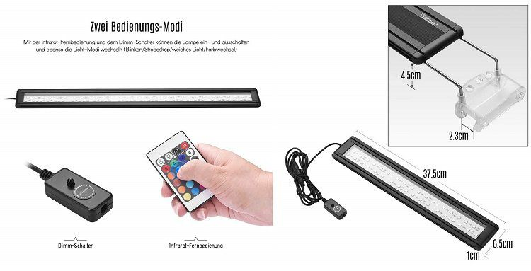 Dadypet RGB LED Aquariumsleuchte (geeignet für Aquarien von 33   61 cm) für 10,87€ (statt 27€)