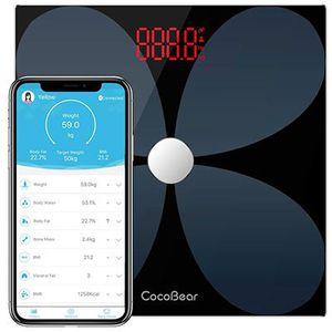 Bluetooth Körperfettwaage mit App Anbindung (bis zu 200kg) in vielen Extras für 18,59€ (statt 30€)