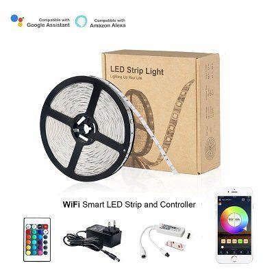 HaoDeng Smart LED Streifen (kompatibel mit Alexa, Google Home) für 21,69€ (statt 31€)