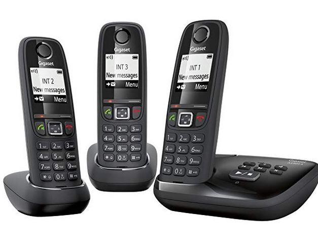 GIGASET AS405 A TRIO   3 Schnurlose Telefone mit AB für 35€ (statt 73€)