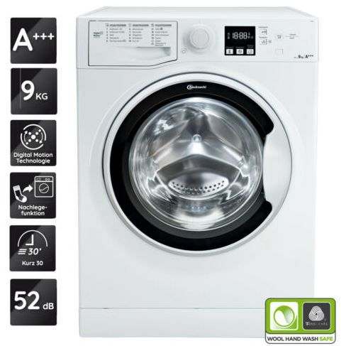 Bauknecht AF 9F4   Waschmaschine mit Active Care Reload Funktion für 319,90€ (statt 369€)