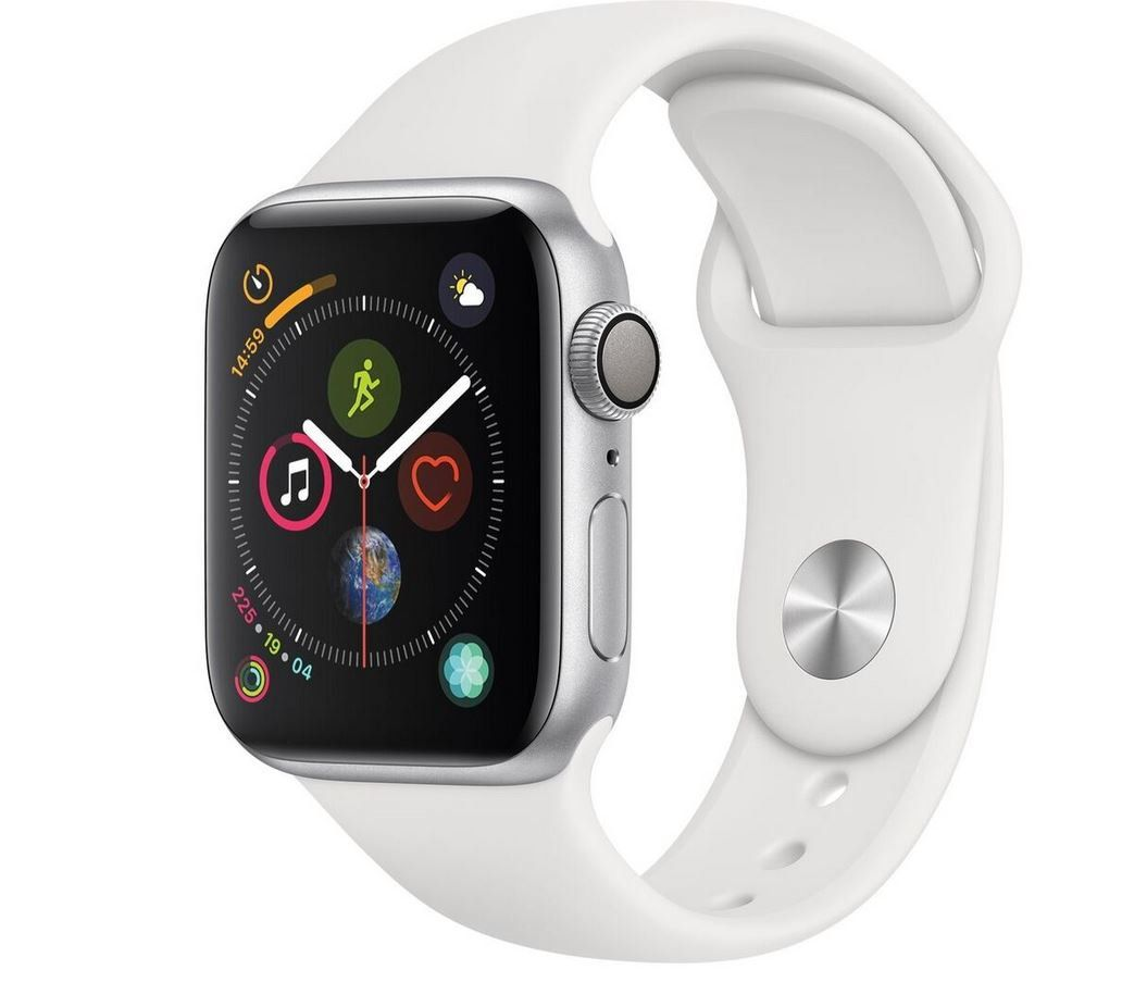 Apple Watch Series 4 40mm Alu Gehäuse und weißem Sportarmband für 379,90€ (statt 399€)