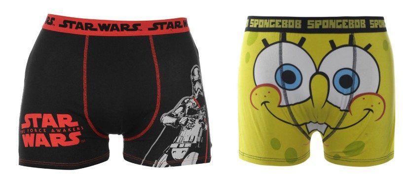 Herren Boxershorts mit Motiven von Marvel, Star Wars etc. für je 1,11€ zzgl. 3,95€ VSK