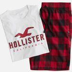 Hollister Herren Pyjama (T-Shirt + kurze Hose) für 26,91€