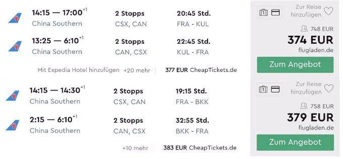 Flüge (2 way) auf die Philippinen, nach Malaysia oder Thailand inkl. Gepäck ab 368€