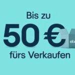eBay: Artikel für mind. 5€ verkaufen und 10% Gutschein im Wert des Verkaufspreises erhalten (max. 50€) – nur eingeladene Mitglieder