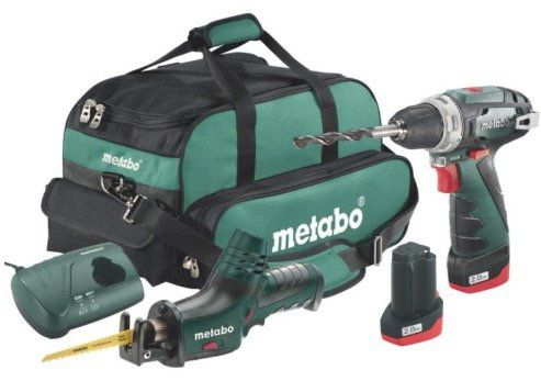 Metabo Combo Set 2.4 10.8 V (Schrauber, Säbelsäge, Bits, Akkus, Tasche) für 150€ (statt 177€)