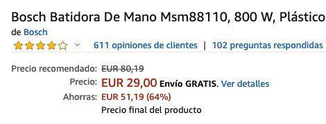 Bosch MaxoMixx Stabmixer mit 800 Watt und 12 Stufen inkl. Messbecher für 33,75€ (statt 56€)