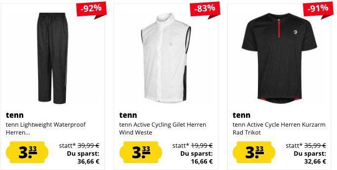 SportSpar Super Sale mit Artikeln für je 3,33€ + VSK   z.B. tenn Active Herren Windjacke
