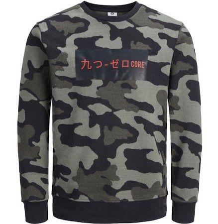 Jack & Jones Herren Pullover mit Camouflage Muster für 24,46€ (statt 36€)