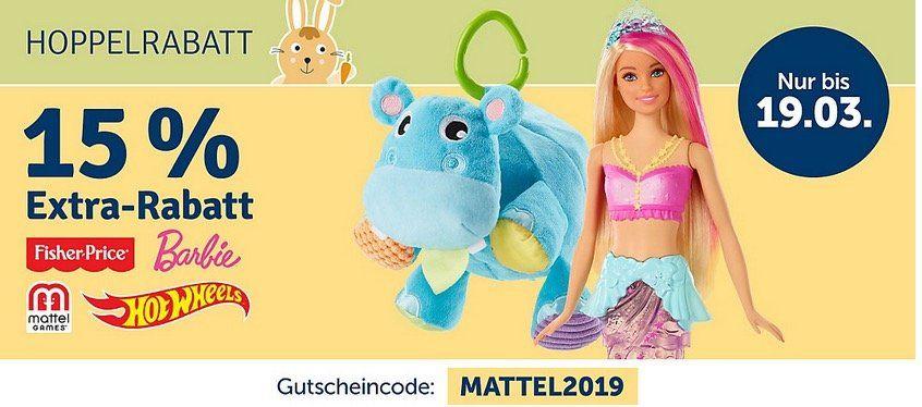 myToys: Mattel Sale   bis zu  60% + 15% zusätzlich (auch auf Sale)
