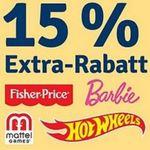 myToys: Mattel Sale – bis zu -60% + 15% zusätzlich (auch auf Sale)