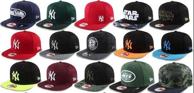 New Era Snapback Caps in unterschiedlichen Motiven für je 13,90€