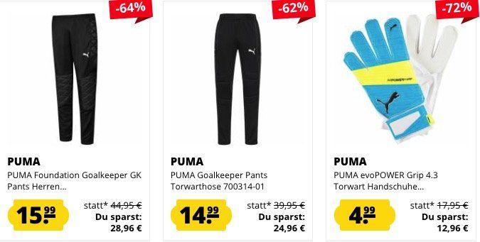 Puma Torwartbekleidung bei SportSpar   z.B. PowerCat 1.10 Torwart Trikot ab 6,99€ (statt 12€)