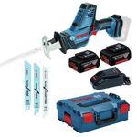 Bosch GSA 18 V-Li C Akku-Säbelsäge + 2 Akkus je 5 Ah + Ladegerät + L-Boxx für 279,95€