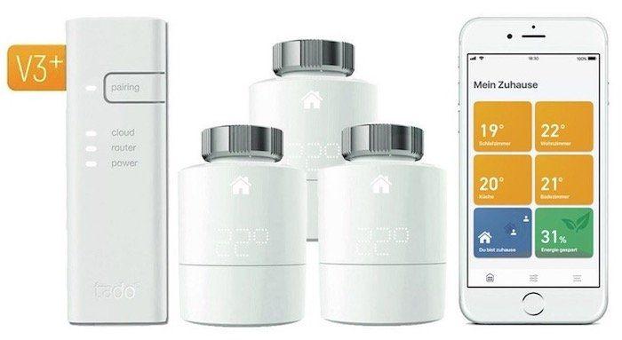 🔥 Tink mit 20% Sofortrabatt auf Tado° Smarthome Artikel   z.B. 3er Set Thermostate für 139,96€ (statt 200€)