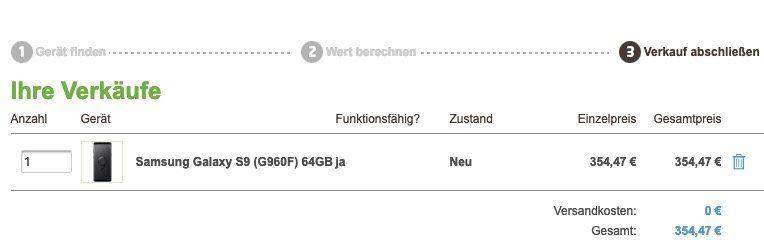 Samsung Galaxy S9 für 59€ + gratis Samsung LED View Cover + o2 Allnet Flat XL von Blau mit 5GB LTE für 19,99€ mtl.   keine Datenautomatik!